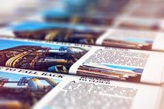 Giornali di stampa nella tipografia illustrazione vettoriale