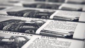 Giornali di stampa nella tipografia archivi video