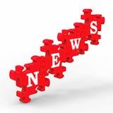 Giornalismo ed informazioni di media del mondo dei notiziarii Fotografia Stock Libera da Diritti