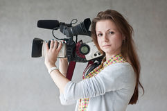 Giornalista della ragazza Fotografie Stock