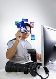 Giornalista fotografico Fotografia Stock