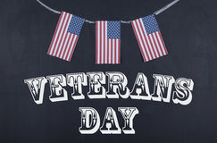 Giornata dei veterani e bandiera americana Fotografia Stock Libera da Diritti