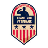 Giornata dei veterani felice fotografia stock
