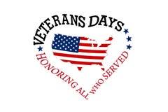 Giornata dei veterani, onorante tutti che serviscano l'11 novembre fotografie stock libere da diritti