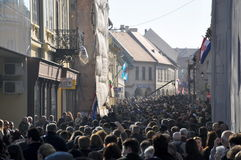 Giornata della memoria di Vukovar Fotografie Stock Libere da Diritti