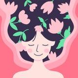 Giornata internazionale della donna felice, l'8 marzo illustrazione vettoriale