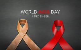 Giornata mondiale contro l'AIDS del nastro Immagine Stock Libera da Diritti