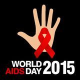 Giornata mondiale contro l'AIDS, manifesto e citazioni, messaggio ispiratore Immagini Stock