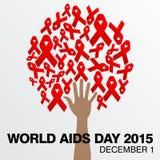 Giornata mondiale contro l'AIDS, manifesto e citazioni, messaggio ispiratore Fotografia Stock Libera da Diritti