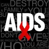 Giornata mondiale contro l'AIDS, manifesto e citazioni, messaggio ispiratore Immagini Stock Libere da Diritti