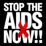 Giornata mondiale contro l'AIDS, manifesto e citazioni, messaggio ispiratore Fotografia Stock