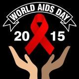 Giornata mondiale contro l'AIDS, manifesto e citazioni, messaggio ispiratore Fotografie Stock