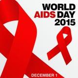 Giornata mondiale contro l'AIDS, manifesto e citazioni, messaggio ispiratore Immagine Stock Libera da Diritti