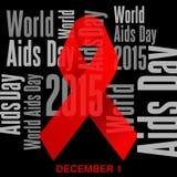 Giornata mondiale contro l'AIDS, manifesto e citazioni, messaggio ispiratore Fotografie Stock Libere da Diritti