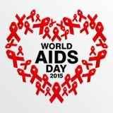 Giornata mondiale contro l'AIDS, manifesto e citazioni, messaggio ispiratore Immagine Stock