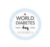 Giornata mondiale del diabete, il 14 novembre Fotografia Stock Libera da Diritti