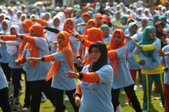 Giornata mondiale del diabete in Indonesia Immagini Stock