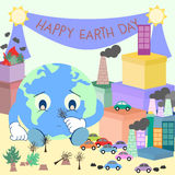 Giornata per la Terra felice 2 Fotografie Stock Libere da Diritti
