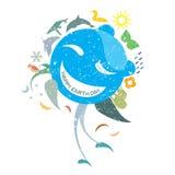 Giornata per la Terra felice illustrazione di stock