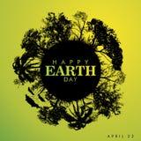 Giornata per la Terra felice Immagini Stock Libere da Diritti