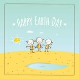 Giornata per la Terra felice Immagine Stock