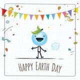 Giornata per la Terra felice Fotografie Stock