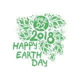 Giornata per la Terra felice 22 aprile 2018 illustrazione di stock