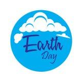 Giornata per la Terra felice con il mondo e l'albero - vettore royalty illustrazione gratis