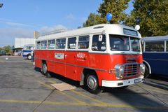 Giornata porte aperte pubblica sul garage di 40 anni Cinkota XI del bus Fotografie Stock Libere da Diritti