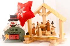 10 giorni al Natale Immagine Stock