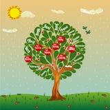 Giorni della settimana e dei mesi degli ambiti di provenienza di anno per i bambini illustrazione di stock