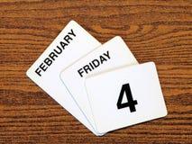 Giorno 2011 del Cancer del mondo del calendario Fotografia Stock Libera da Diritti