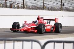 Giorno 2011 di Dario Franchitti 10 Indianapolis 500 Palo fotografie stock