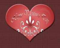 Giorno 3 del biglietto di S. Valentino Fotografia Stock