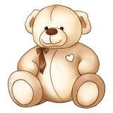 Giorno adorabile del ` s del biglietto di S. Valentino del san del giocattolo di Teddy Bear del fumetto Immagine Stock Libera da Diritti