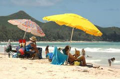 Giorno alla spiaggia Fotografia Stock