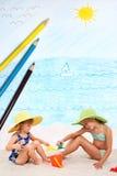 Giorno alla spiaggia Immagini Stock