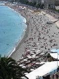 Giorno alla spiaggia in Nizza, Francia Fotografia Stock Libera da Diritti