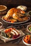 Giorno arrostito casalingo Turchia di ringraziamento immagine stock