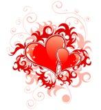 Giorno astratto dei biglietti di S. Valentino con la h Fotografia Stock Libera da Diritti