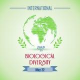 Giorno biologico internazionale con le pitture di forma illustrazione di stock