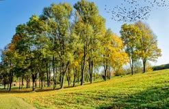 Giorno caldo di autunno nella piazza fotografie stock