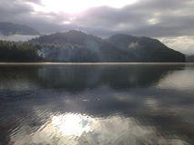 Giorno calmo sull'acqua Fotografie Stock
