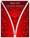Giorno card1 del biglietto di S. Valentino Fotografie Stock