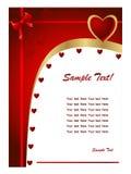 Giorno card2 del biglietto di S. Valentino Immagini Stock Libere da Diritti