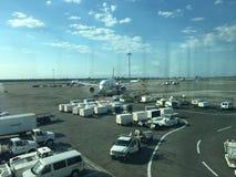 Giorno casuale dell'aeroporto un Immagini Stock