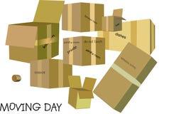 Giorno commovente per la casa e commercio in 3d e su bianco Fotografie Stock Libere da Diritti