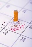 Giorno in cui rinuncerò fumare Immagini Stock