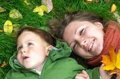 Giorno d'autunno felice Fotografia Stock Libera da Diritti