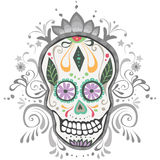 Giorno decorato del cranio guasto dello zucchero Fotografia Stock Libera da Diritti